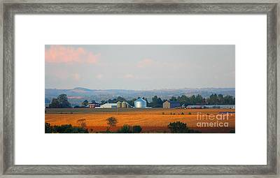 Framed Print featuring the photograph The Countryside by Davandra Cribbie