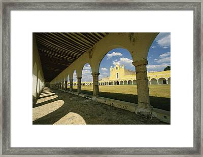 The Courtyard Of The Great Monastery Framed Print by Martin Gray