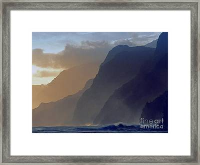 The Cove Framed Print by Jerry L Barrett