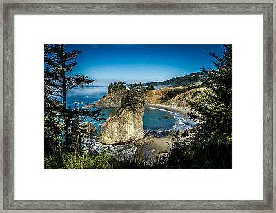 The Cove Framed Print by Randy Wood