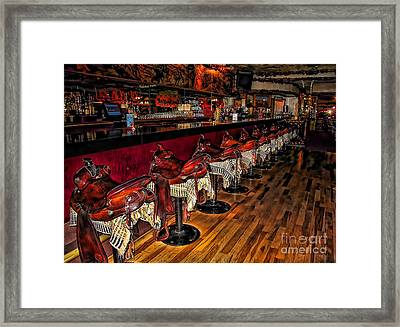 The Cowboy Bar Framed Print