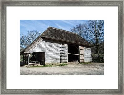 The Cowfold Barn Framed Print by Dawn OConnor
