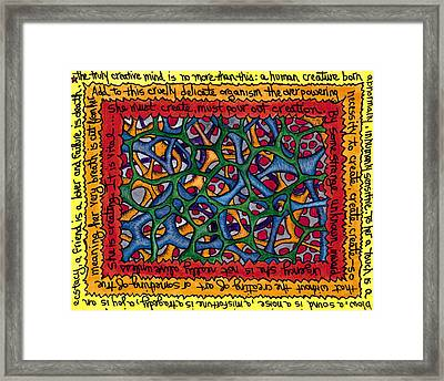 The Creative Mind In Color Framed Print