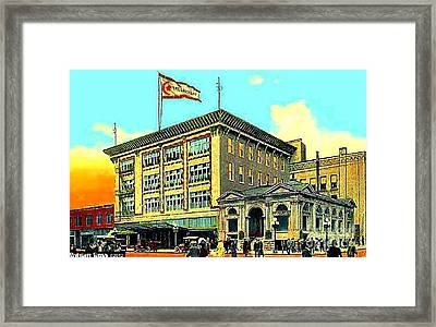 The Crescent Store In Spokane Wa In 1908 Framed Print