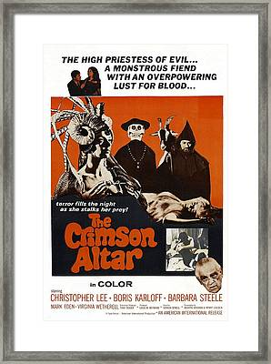 The Crimson Cult, U.s Title Aka The Framed Print by Everett