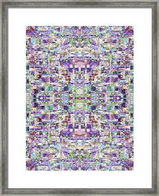 The Cross Fractal Framed Print by Betsy Knapp