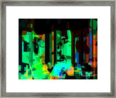 The Cross Is Life Transforming Framed Print by Fania Simon