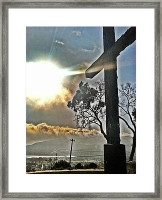 The Cross Framed Print by Raven Janush
