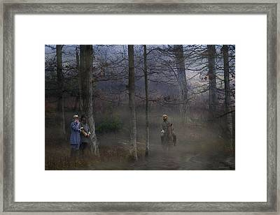 The Crossing Framed Print by Ron Jones