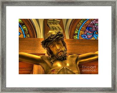 The Crucifiction Of Jesus Of Nazareth Framed Print by Lee Dos Santos