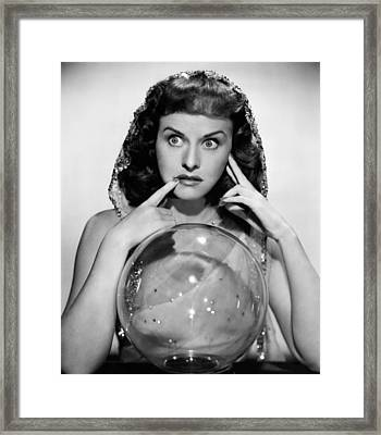 The Crystal Ball, Paulette Goddard, 1943 Framed Print by Everett