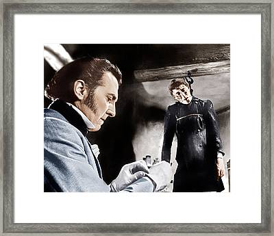 The Curse Of Frankenstein, From Left Framed Print by Everett