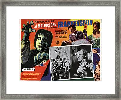 The Curse Of Frankenstein, Peter Framed Print by Everett