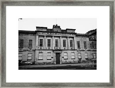 The Custom House Building Clyde Street Glasgow Scotland Uk Framed Print