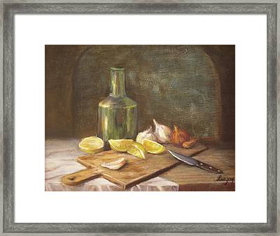 The Cutting Board Framed Print