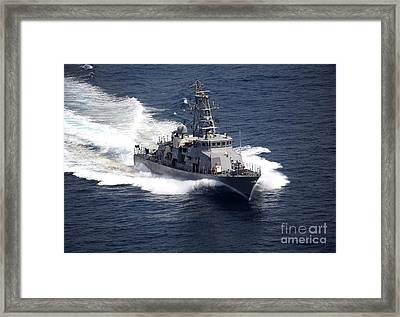The Cyclone-class Coastal Patrol Ship Framed Print
