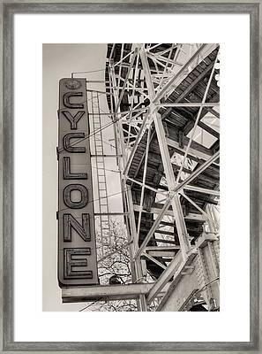 The Cyclone Framed Print by JC Findley