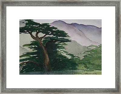The Cypress Tree Framed Print