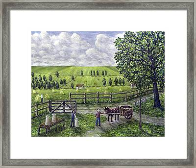 The Dairy Farm Framed Print by Ronald Haber