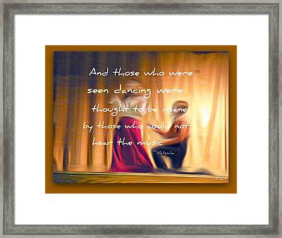 The Dance Framed Print by Michelle Frizzell-Thompson
