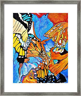 The Dance Of The Butterflies Framed Print