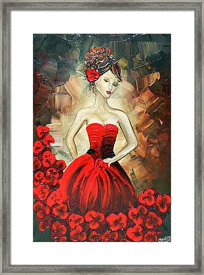 The Dancer In The Red Dress Framed Print