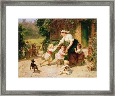 The Dancing Bear Framed Print by Frederick Morgan