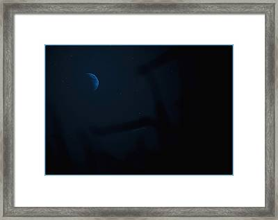 The Dark Side Of The Moon Framed Print by DigiArt Diaries by Vicky B Fuller