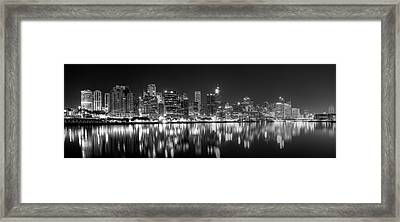 The Dark Side Of Town Framed Print