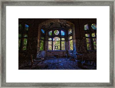 The Dark Ward Framed Print