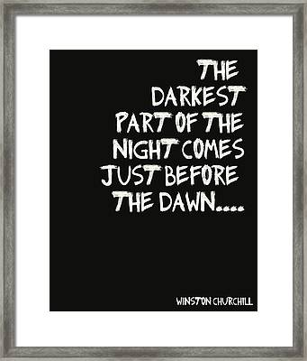 The Darkest Part Of The Night Framed Print by Georgia Fowler