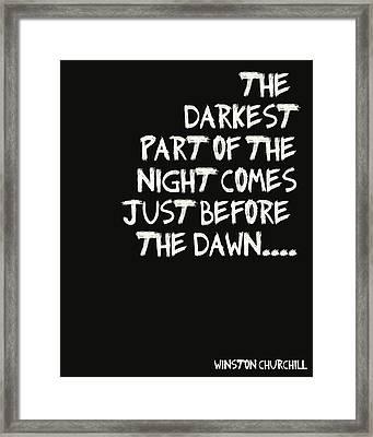 The Darkest Part Of The Night Framed Print