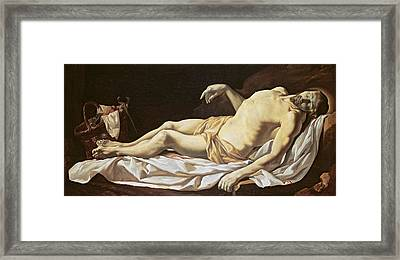 The Dead Christ Framed Print by Charles Le Brun