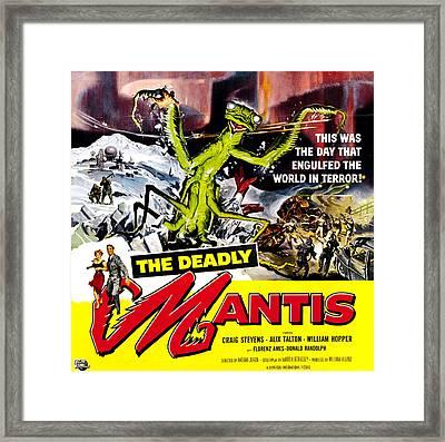 The Deadly Mantis, 6-sheet Poster Art Framed Print by Everett
