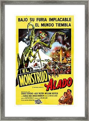 The Deadly Mantis, Aka El Monstruo Framed Print by Everett