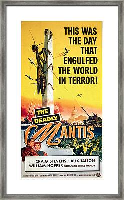 The Deadly Mantis, Craig Stevens, Alix Framed Print by Everett