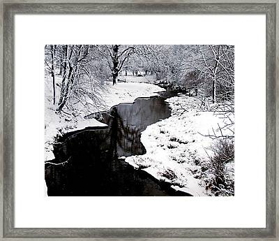 Framed Print featuring the photograph The Deep And Snowy Creek by Kimberleigh Ladd