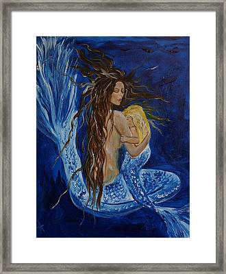 The Deepest Love Framed Print by Leslie Allen