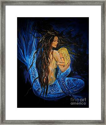 The Deepest Love Series 3 Framed Print by Leslie Allen