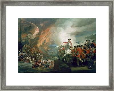 The Defeat Of The Floating Batteries At Gibraltar Framed Print by John Singleton Copley