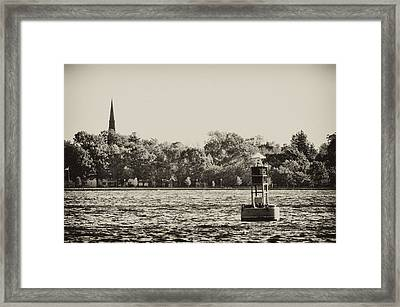 The Delaware River At Bristol Framed Print by Bill Cannon