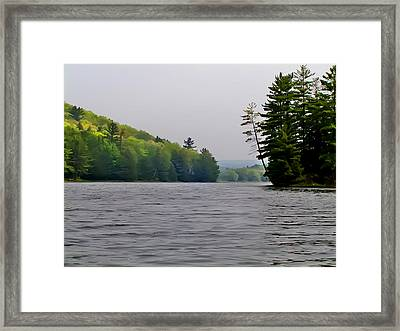 The Delaware River Framed Print by Bill Cannon