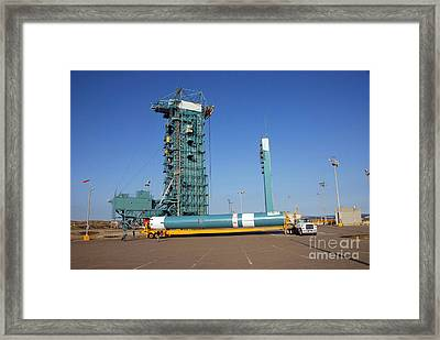 The Delta II First Stage Framed Print by Stocktrek Images