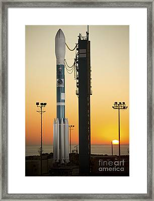 The Delta II Rocket On Its Launch Pad Framed Print by Stocktrek Images