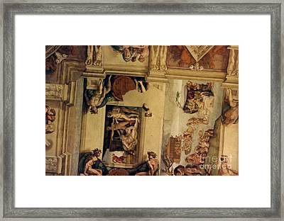 The Deluge And The Sacrifice Of Noah. Framed Print