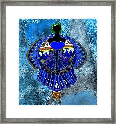The Denim Goddess Framed Print