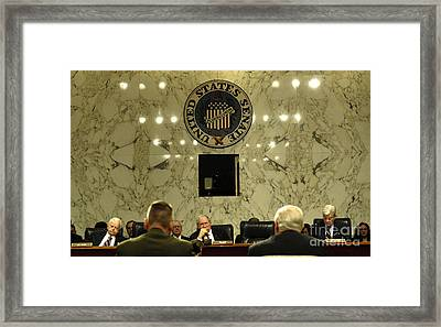 The Department Of Defense Address Framed Print by Stocktrek Images