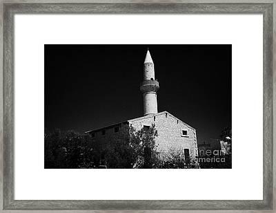 the dere mosque of koprulr haci ibrahim cami Limassol lemesos republic of cyprus  Framed Print