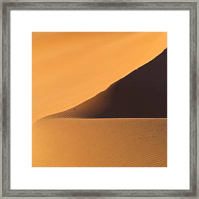 The Desert In Nambia, Africa Framed Print by Keith Levit