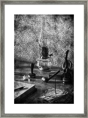 The Desk Framed Print by Empty Wall